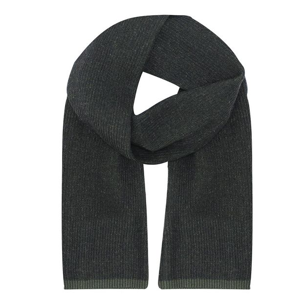 Terrance Mens Scarf - Charcoal