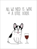 Wine And Licker - Greeting Card
