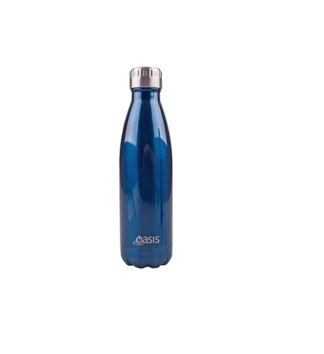 Oasis Insulated Stainless Steel Vacuum Flask - Navy (500ml)