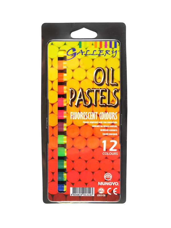 Mungyo: Gallery Oil Pastels - Fluorescent Colours (12 Pack)