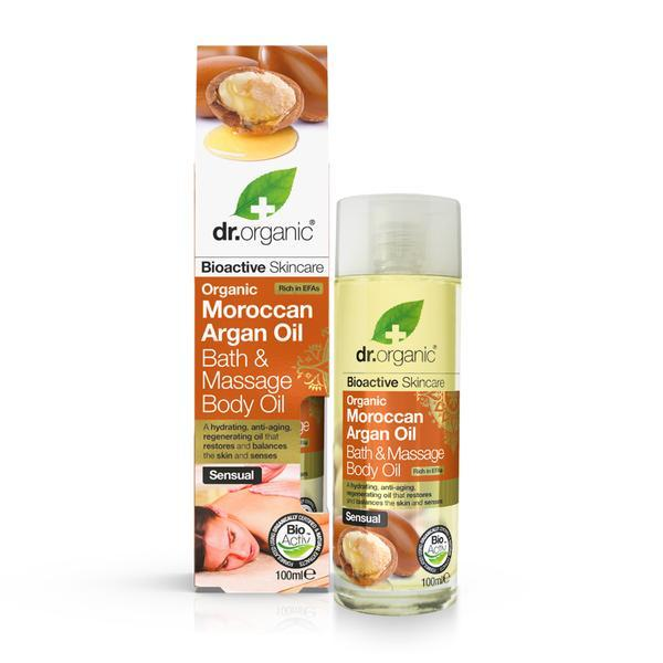 Dr. Organic - Moroccan Argan Oil Bath & Massage Body Oil (50ml)