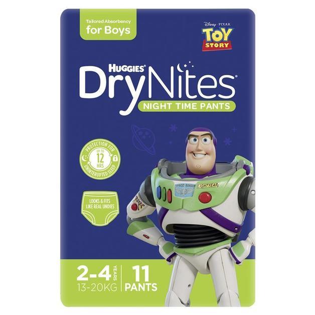 Huggies: DryNites Night Time Boys Pants - 2-4 Years (11 Pack)