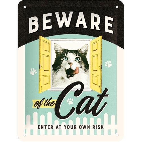 Nostalgic Art Tin Sign - Beware of the Cat image