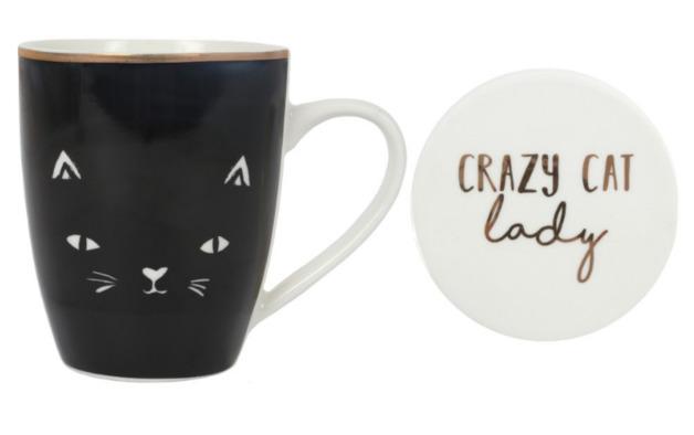 Nibble: Crazy Cat Lady - Mug & Coaster Gift Set