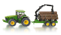 Siku: John Deere Tractor with Forestry trailer - 1:50