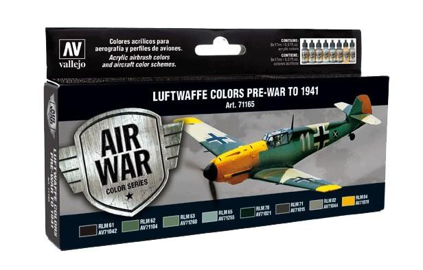 Vallejo Luftwaffe Pre-War to 1941Paint Set image