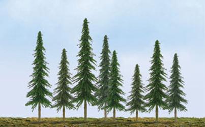 "JTT Scenic Spruce Trees 4""-6"" (24pk) - H0 Scale"