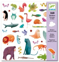 Djeco: Design - Wild & Cuddly Stickers