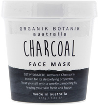Organik Botanik Face Mask Tub - Charcoal (200gm)