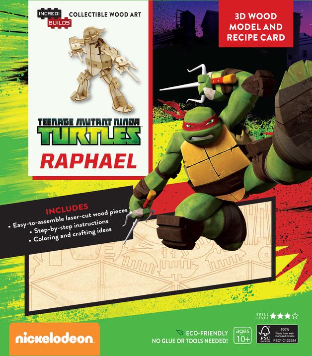 Incredibuilds: Teenage Mutant Ninja Turtles: Raphael 3D Wood Model by Insight Editions