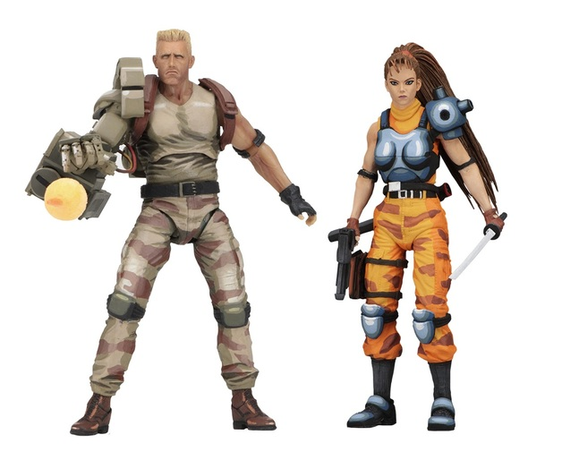 Alien vs. Predator Arcade: Dutch & Linn - Articulated Figure Set
