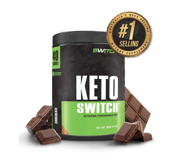 Keto Switch - Ketogenic Performance Fuel - BHB Ketones - Chocolate (40 Serves) image
