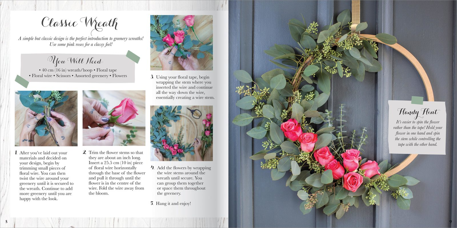 Hinkler: Create Your Own - Greenery Wreath Kit image