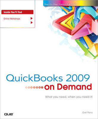 QuickBooks 2009 on Demand by Gail Perry image