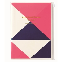 Geometric Pattern 2018 Weekly A5 Diary - Pink/Navy