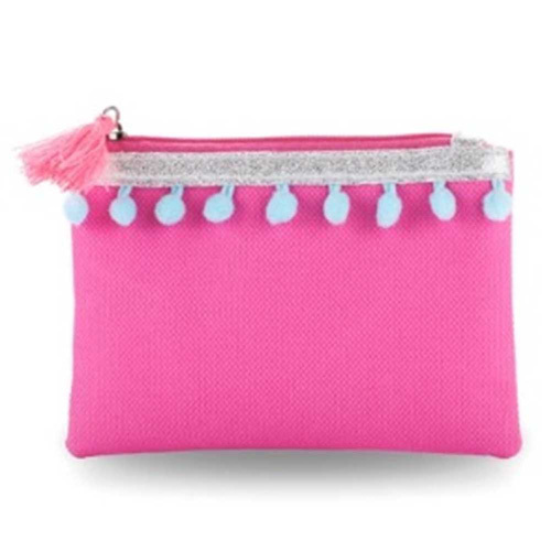 Pink Poppy: Pom Pom Party Coin Purse (Hot Pink)