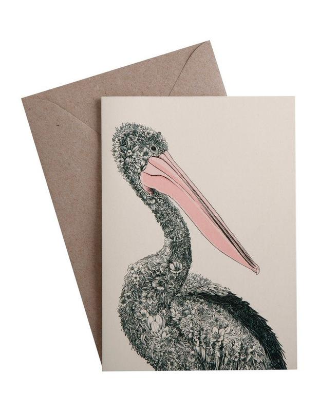 Maxwell & Williams: Marini Ferlazzo Birds Greeting Cards - Pelican