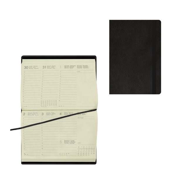 Legami: Small Weekly 12 Month 2021 Diary - Black (9.5 x 13.5cm)