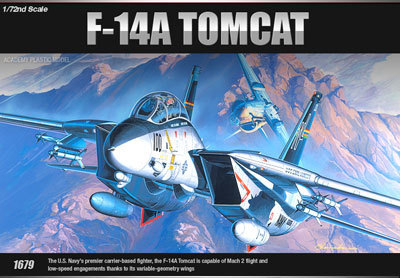 Academy F-14A Tomcat 1/72 Model Kit image