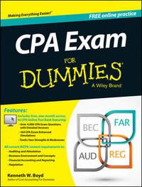 CPA Exam For Dummies by Kenneth W Boyd