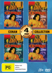 Conan And The Young Warriors Collection 4 Pack (2 Disc) on DVD