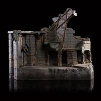 The Hobbit: North Courtyard: Dol Guldur - Environment Statue