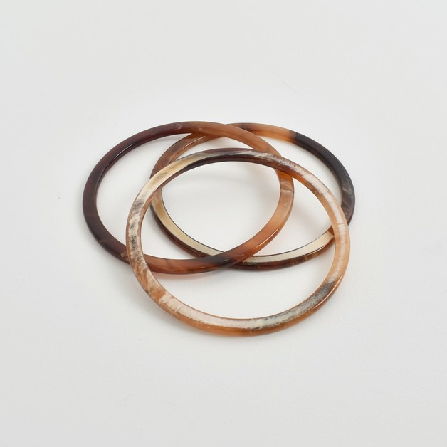 Adorne: Fine Resin Bracelet Set - Chocolate