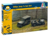 Italeri: 1/72 Willys Jeep WW2 - Fast Assembly Kit image