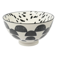 Etta Black and White Cresta Small Bowl (11cm)