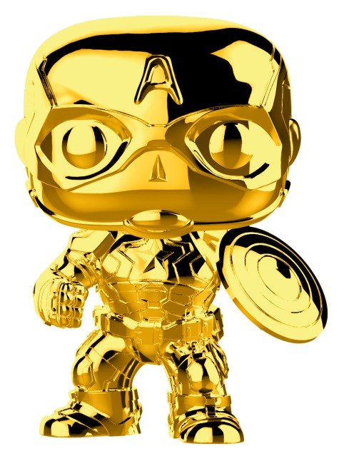 Marvel Studios - Captain America Gold Chrome Pop! Vinyl Figure image