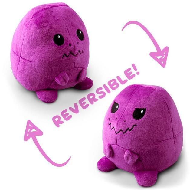 TeeTurtle: Reversible Mini Plush - T-Rex (Purple)