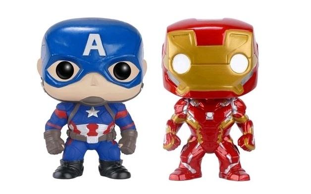 Captain America 3: Civil War - Iron Man & Captain America US Exclusive Pop! Vinyl Figures 2 Pack