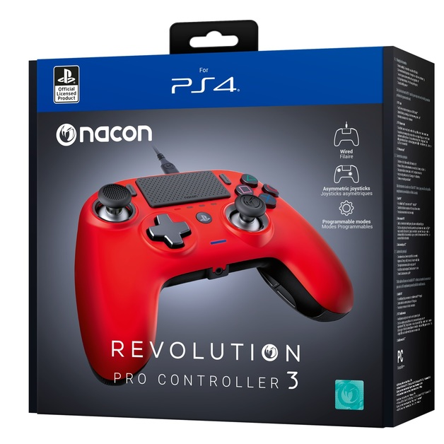 Nacon PS4 Revolution Pro Gaming Controller v3 - Red for PS4