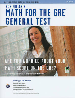 Bob Miller's Math for the GRE General Test by Bob Miller image