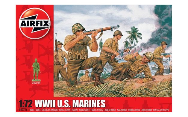 Airfix 1:72 WWII U.S. Marines Scale Model Kit