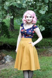 Retrolicious: Charlotte Skirt in Mustard - (XL)
