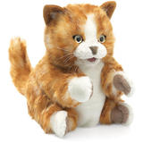 Folkmanis Hand Puppet - Orange Tabby Cat