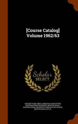 [Course Catalog] Volume 1962/63 image