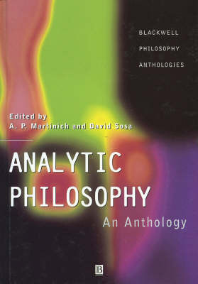 Analytic Philosophy: An Anthology image