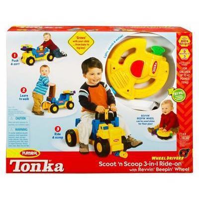 Tonka Wheel Drivers Load 'n' Go (Scoot 'n' Scoop 3 'n' 1 ride on)