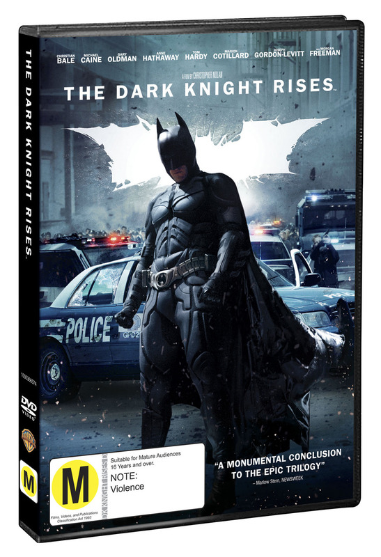 The Dark Knight Rises on DVD