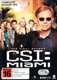 CSI Miami - The Complete Season Ten DVD