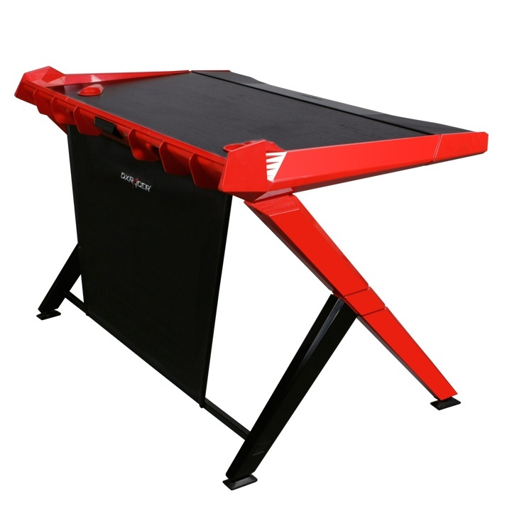 DXRacer Gaming Desk (Black & Red) for  image