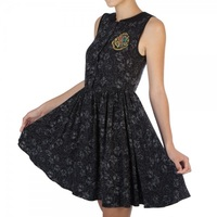 Harry Potter: Hogwarts All Over Print Collar Dress (2XL)