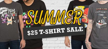 $25 Summer T-Shirt Sale!