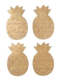 Metallic Monochrome: Gold Pineapple - Coaster Set (4-Pack)
