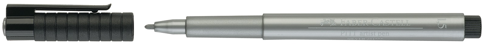 Faber-Castell: Pitt Artist Pens - Metallic Silver image