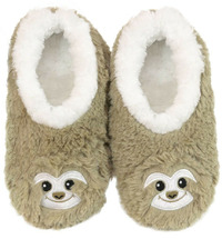 Slumbies Sloth Furry Foot Pals Slippers (L)