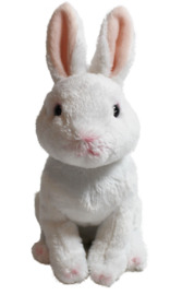 "Cuddly Critters: White Rabbit - 6"" Sitting Plush image"