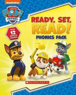 Paw Patrol: Ready, Set, Read! 12 book phonics box by Scholastic
